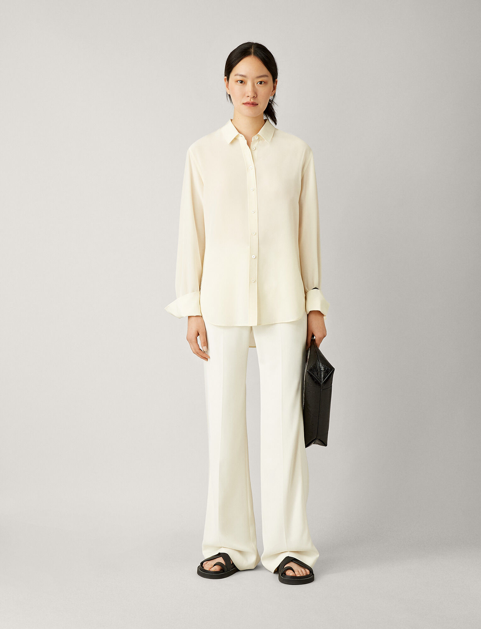 Joseph, Joe Crepe de Soie Blouse, in IVORY