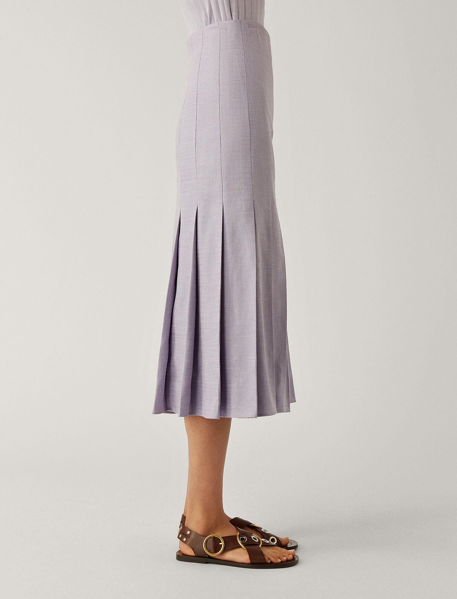 Joseph, Saari Shantung Linen Skirt, in PARME