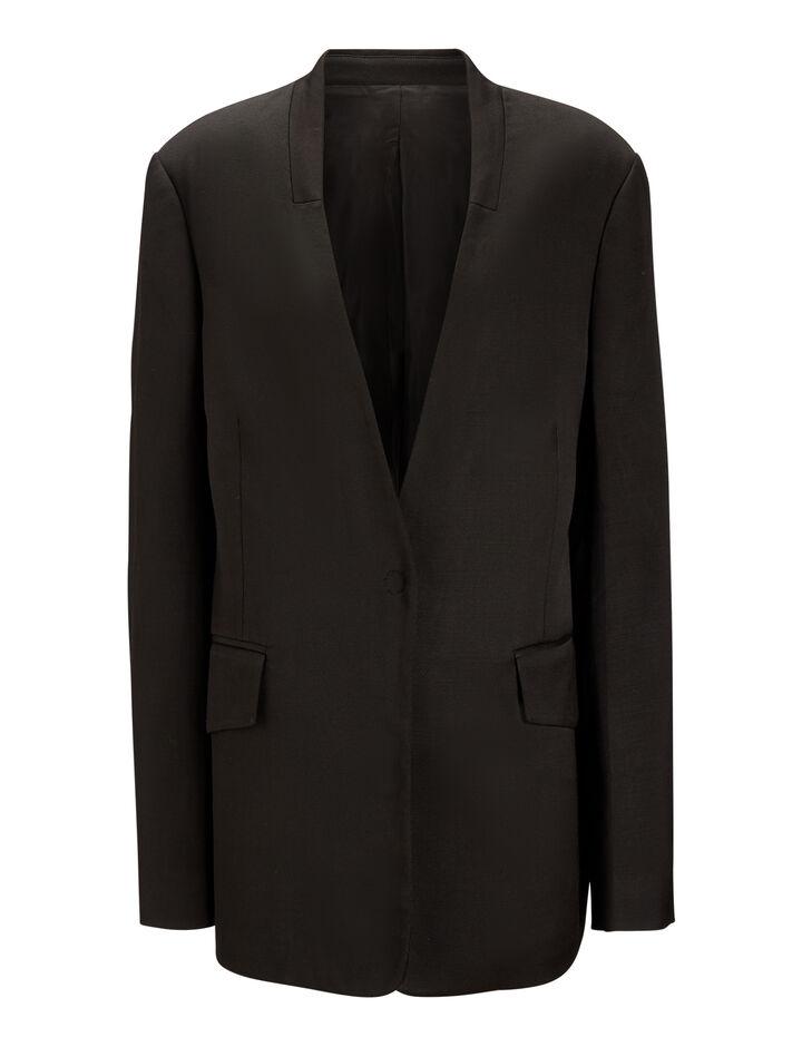 Joseph, Barr Fluid Tailoring Blazer, in BLACK