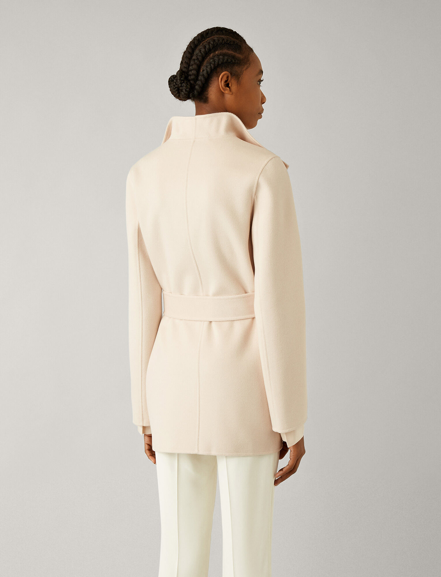 Joseph, Lima Short Double Face Cashmere Coat, in ROSEWATER