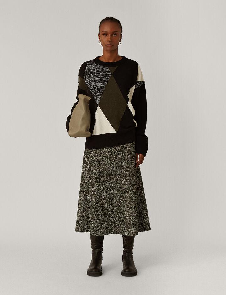Joseph, Rd Nk Ls Knitwear, in Black Combo