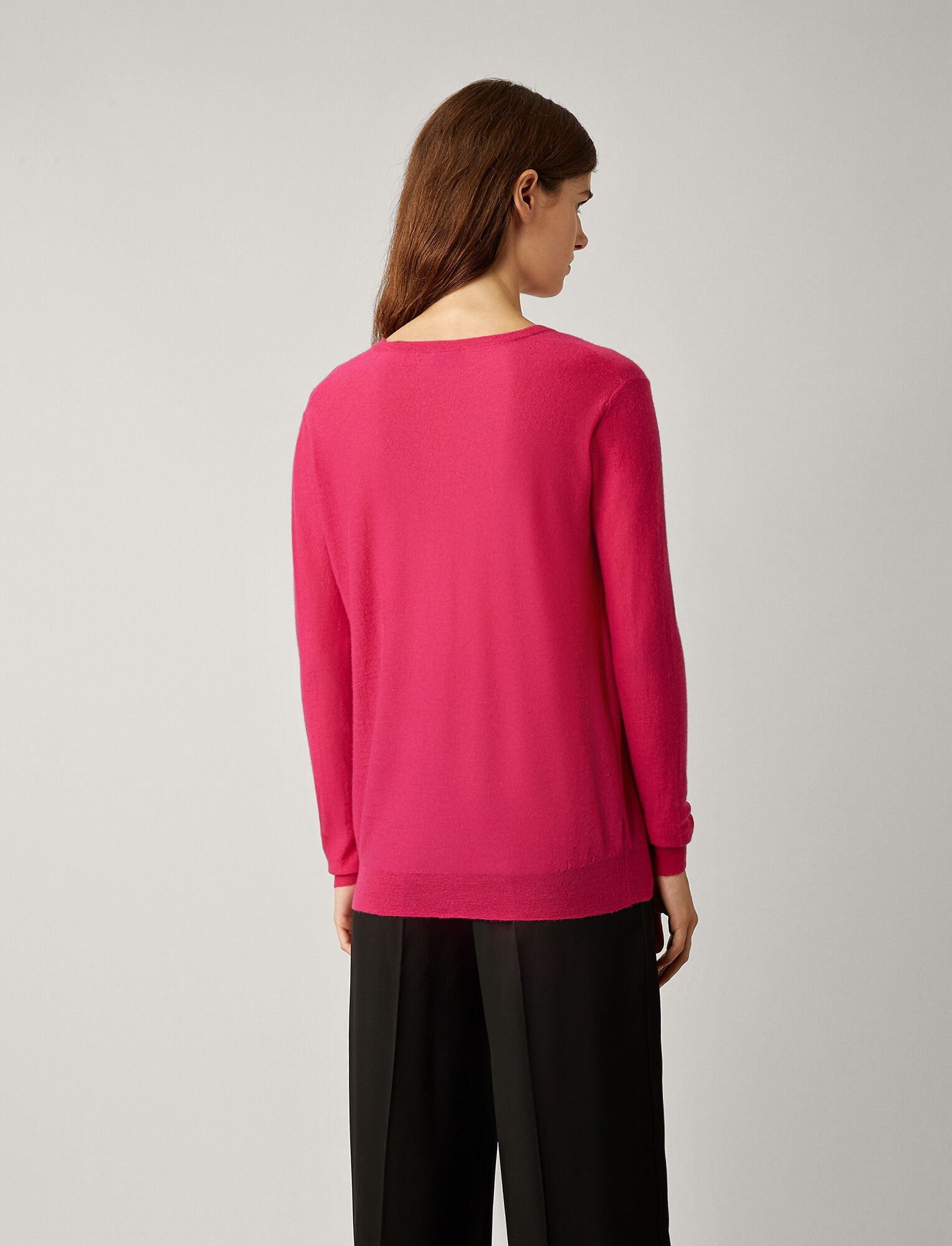 Joseph, V Neck Cashair Knit, in CORUNDUM