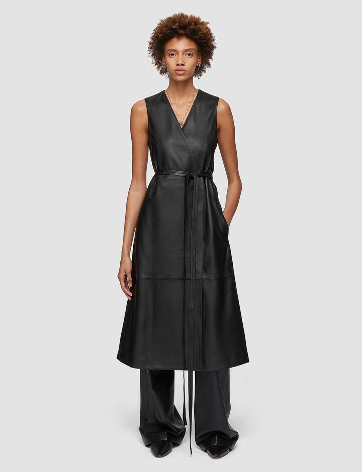 Joseph, Nappa Leather Dibo Dress, in BLACK