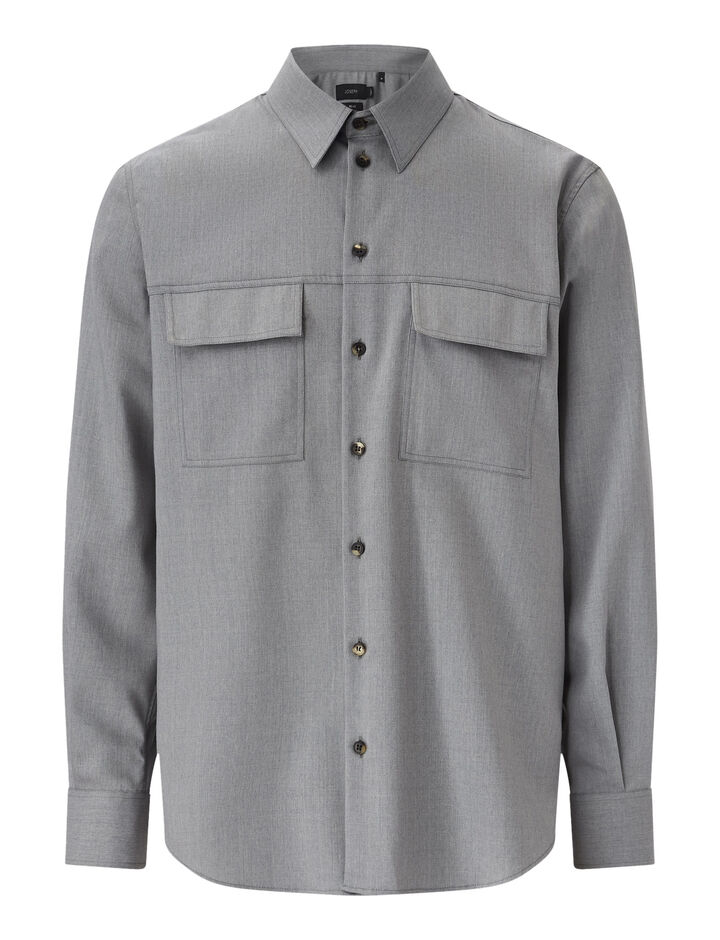 Joseph, Norman-Fine Comfort Wool, in GREY CHINE