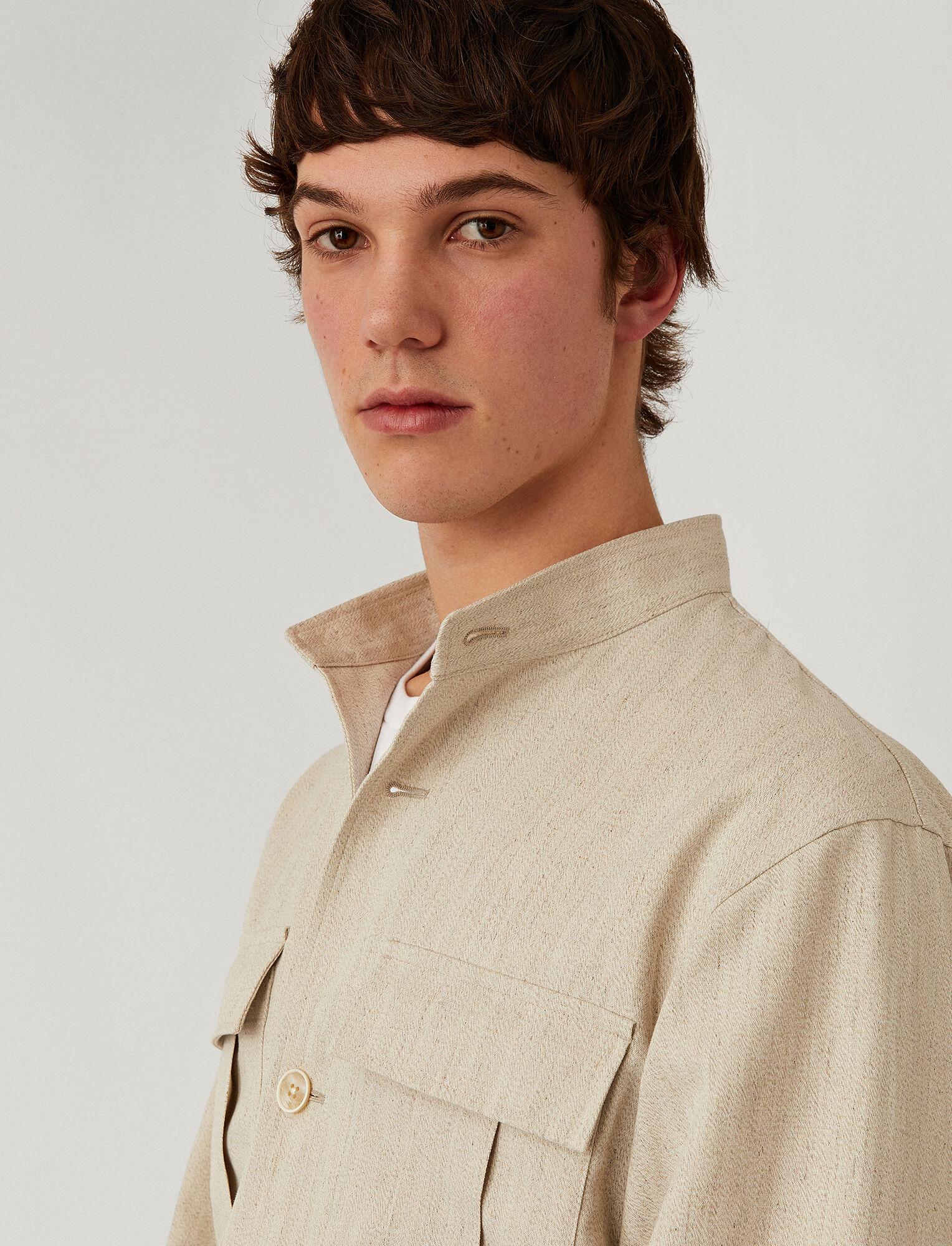 Joseph, Murine Hemp Twill Jacket, in LIGHT GREY
