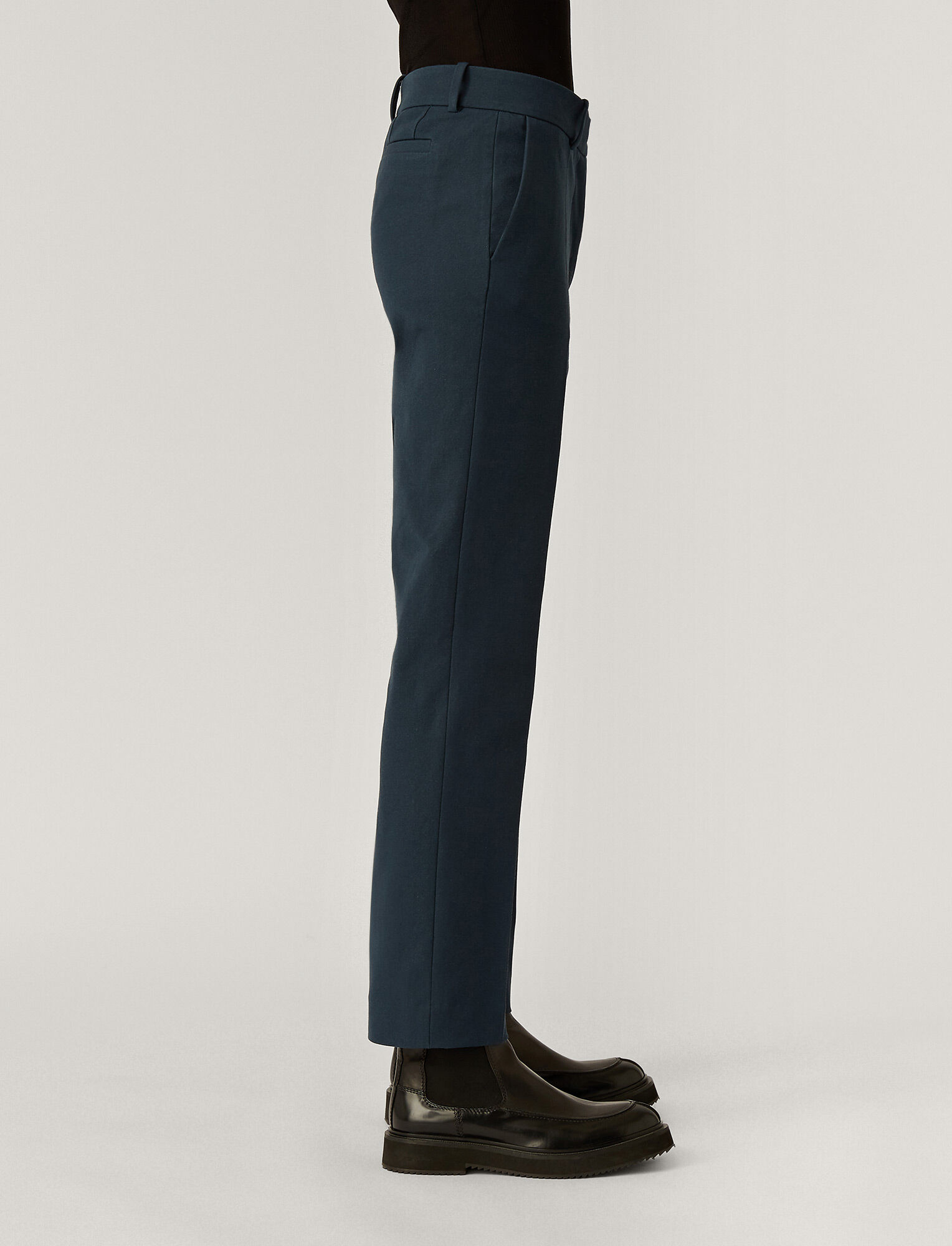 Joseph, Coleman Gabardine Stretch Trousers, in Petrol