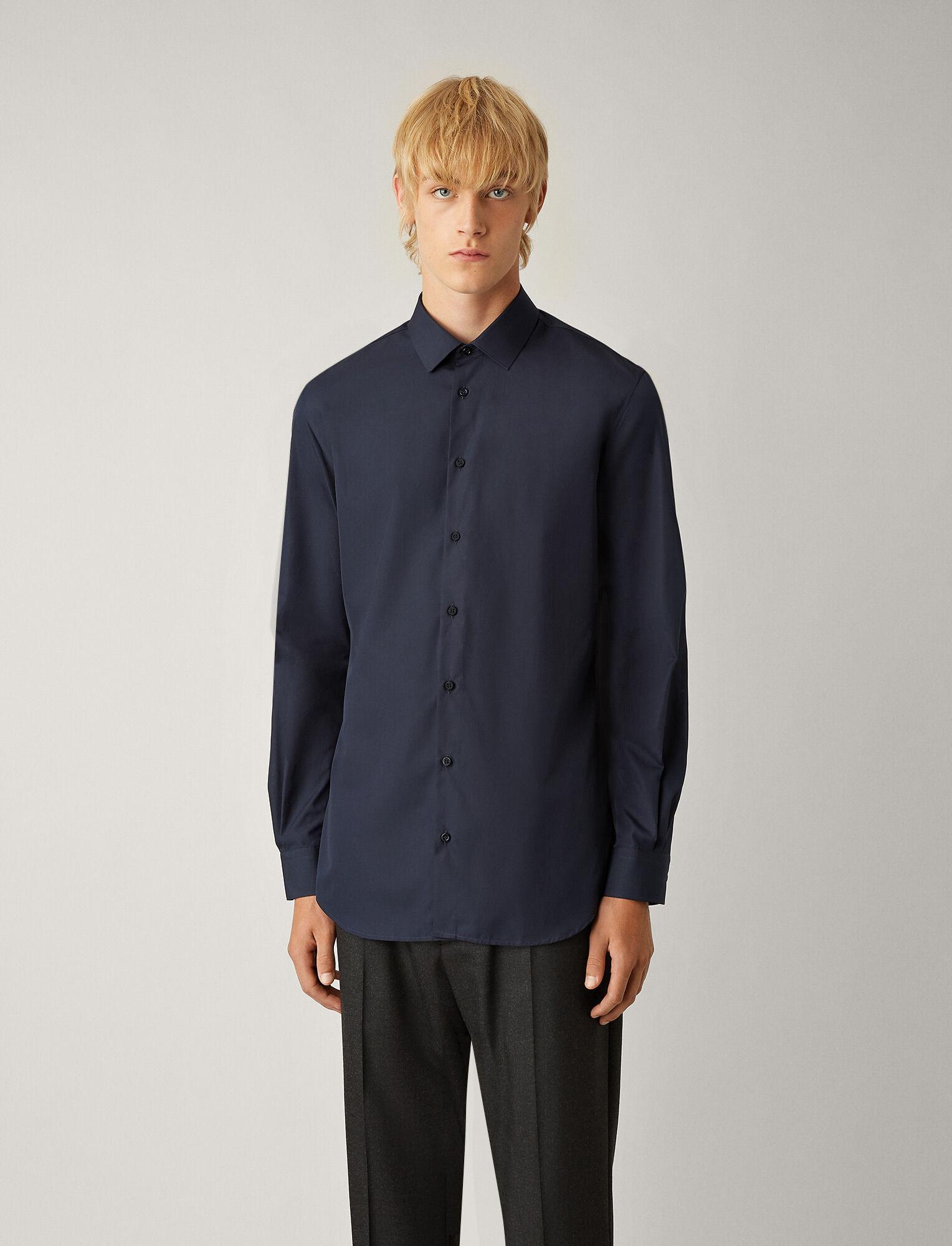Joseph, John Poplin Shirt, in NAVY