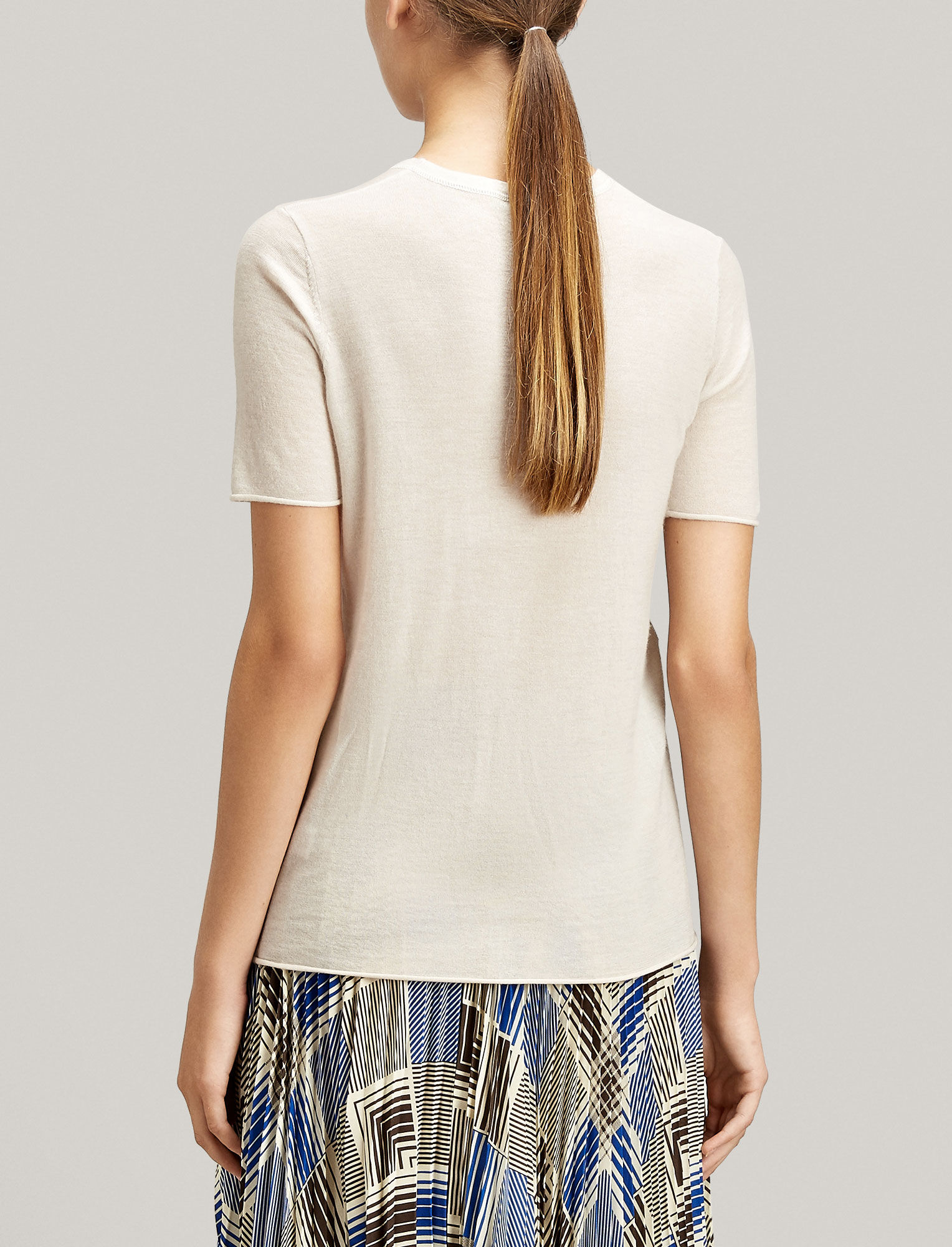 Joseph, Cashair Knit Tee, in MARBLE