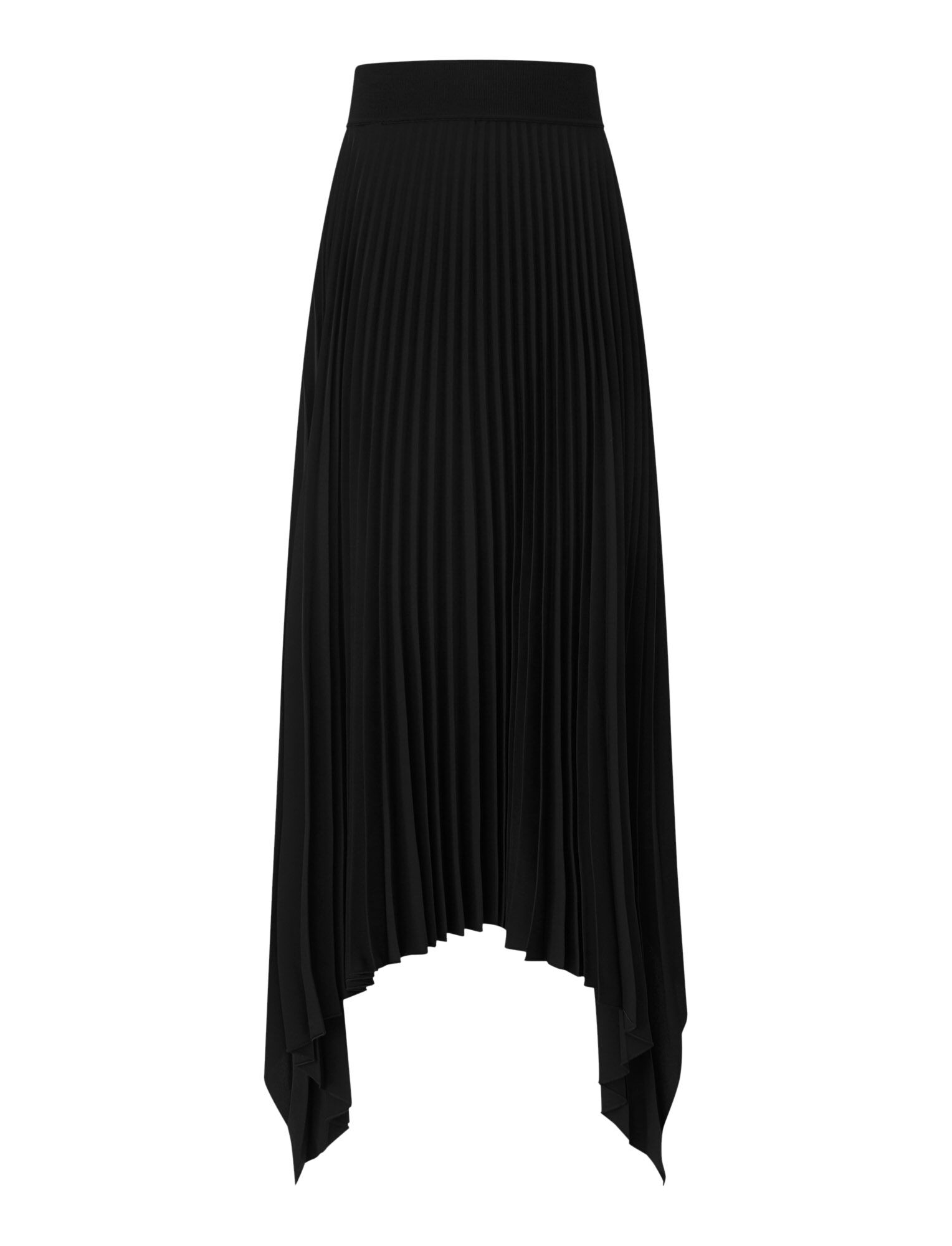 Joseph, Ade Rib Plisse Skirt, in BLACK