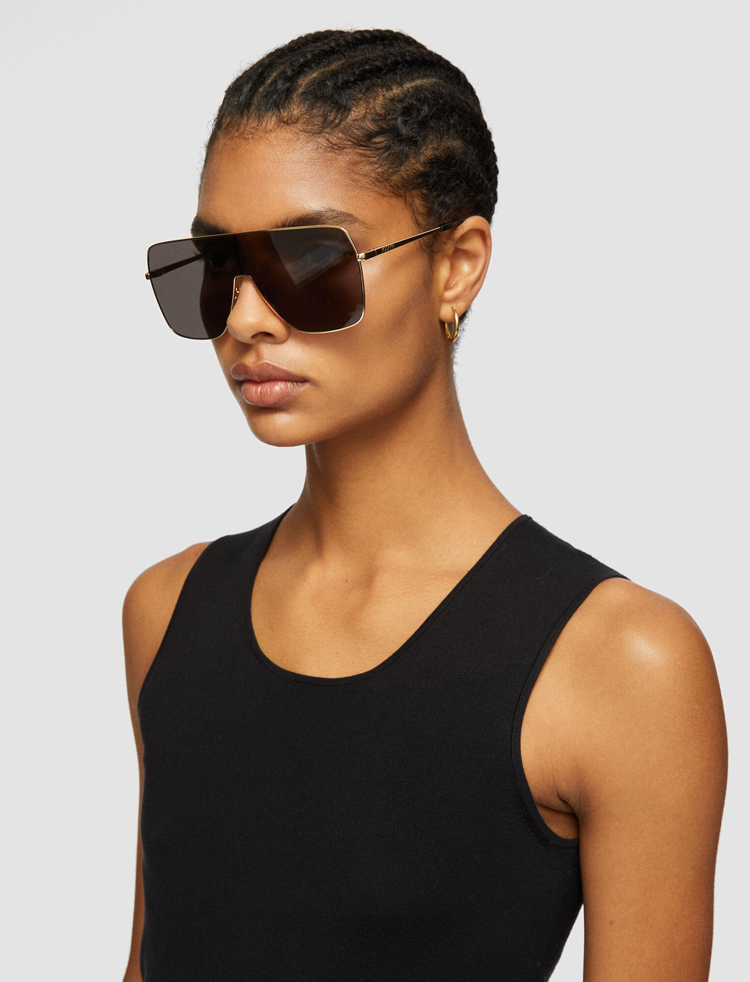 Joseph, Oversized D-Frame Sunglasses, in BLACK