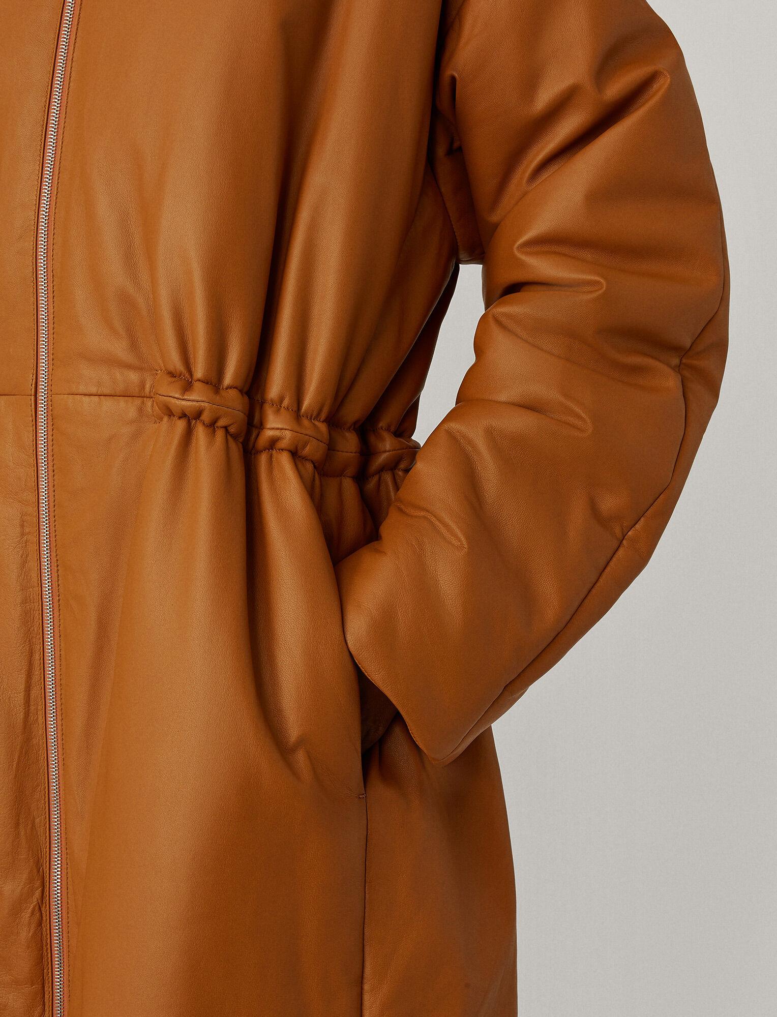 Joseph, Cocon Nappa Leather Coat, in Camel