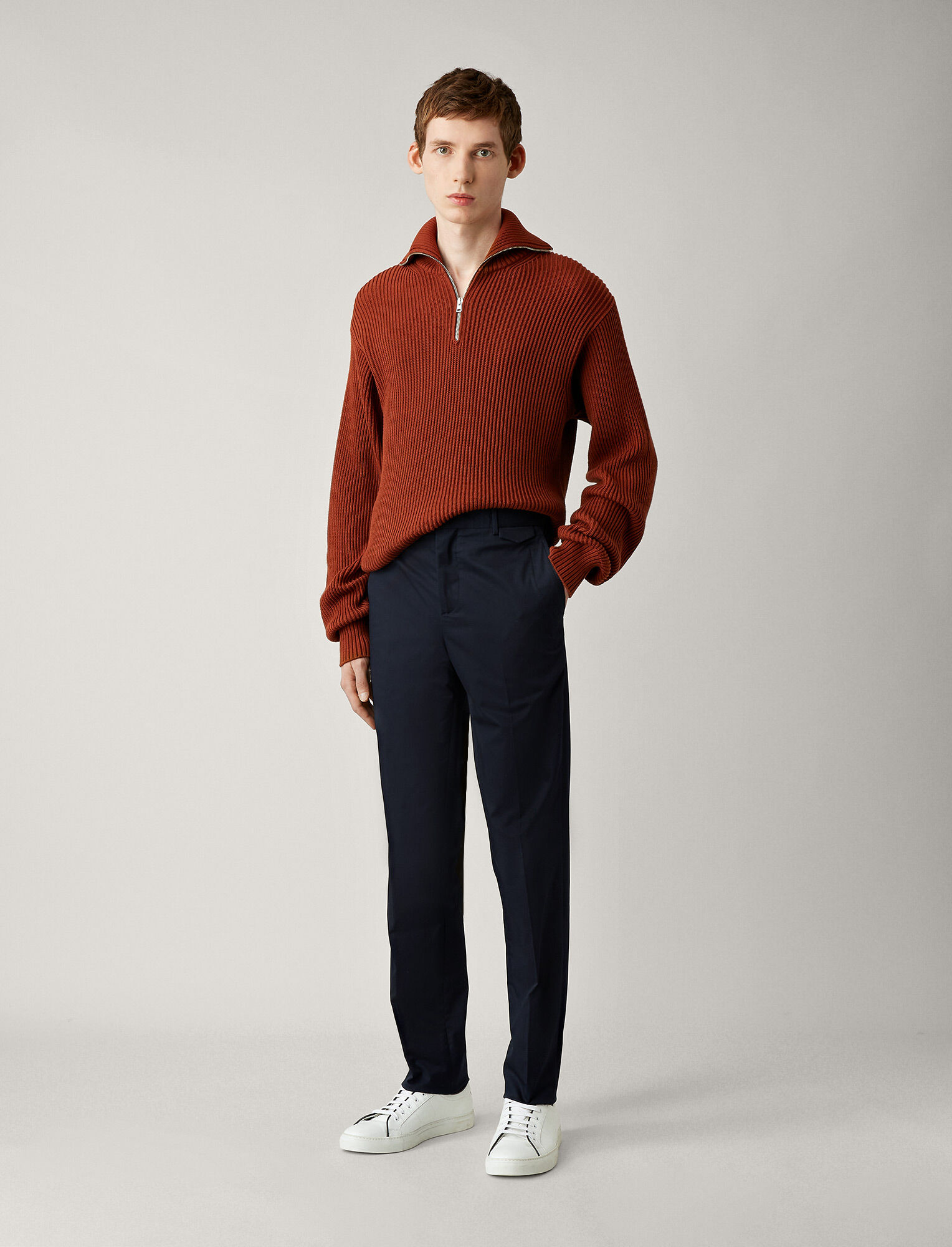 Joseph, Emmanuel Fine Gabardine Stretch Trousers, in NAVY