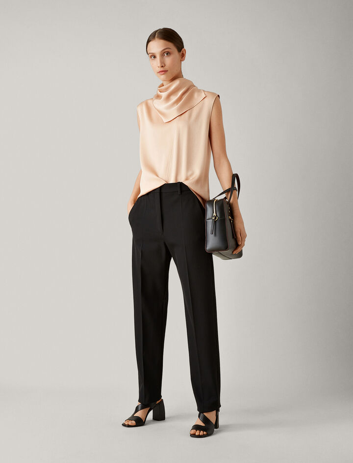 Joseph, Electra Comfort Wool Trousers, in BLACK