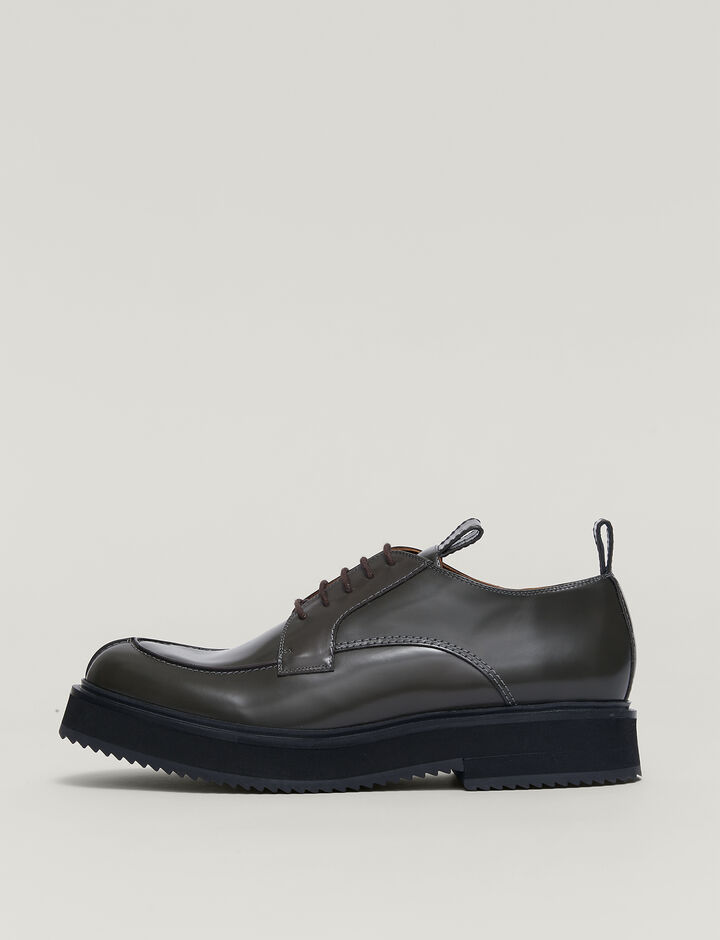 Joseph, Leather British Lace-up Shoes, in TAUPE