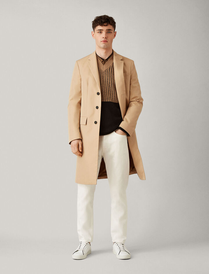 Joseph, Gaston White Denim Trousers, in OFF WHITE