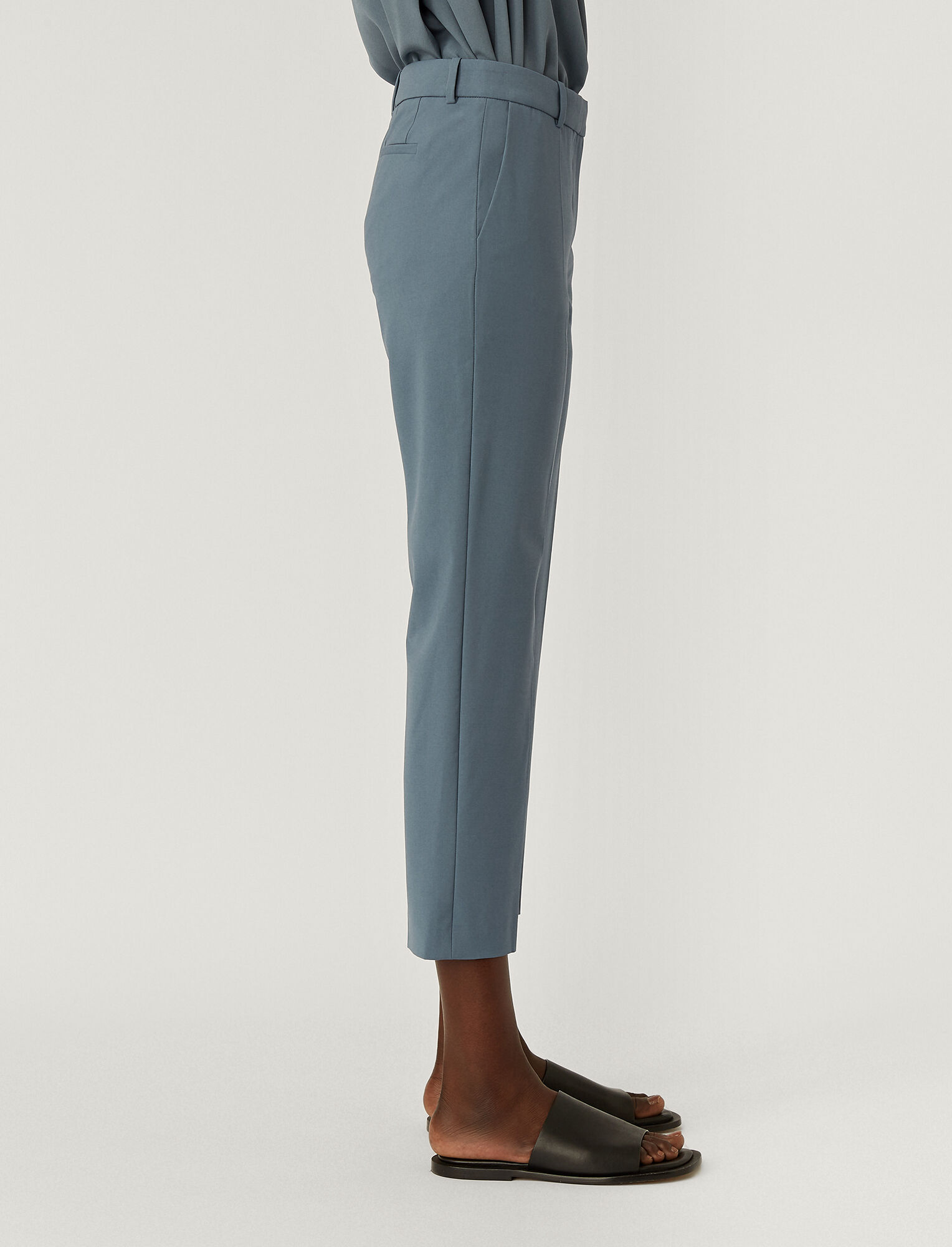 Joseph, Light Wool Suiting Tape Trousers, in BLUE STEEL