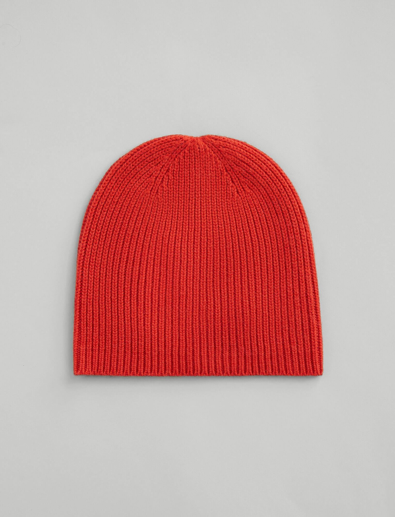Joseph, Wool Cashmere Knit Hat, in DARK ORANGE