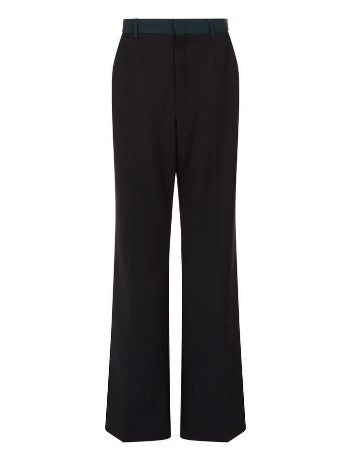 Joseph, New Tropez Comfort Wool Trousers, in BLACK