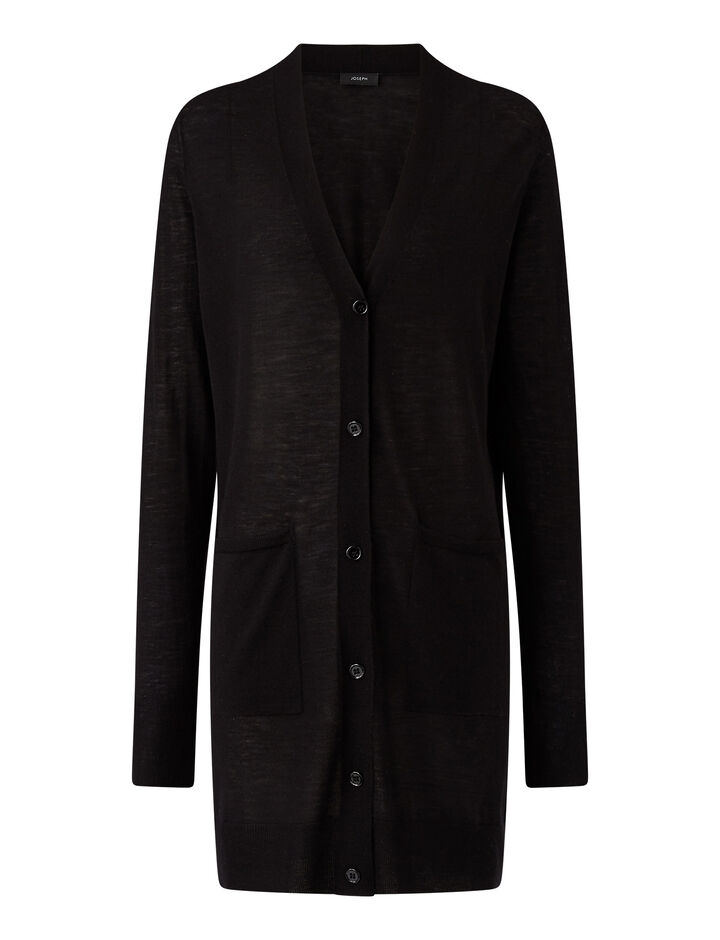 Joseph, Cardigan-Cashair, in BLACK