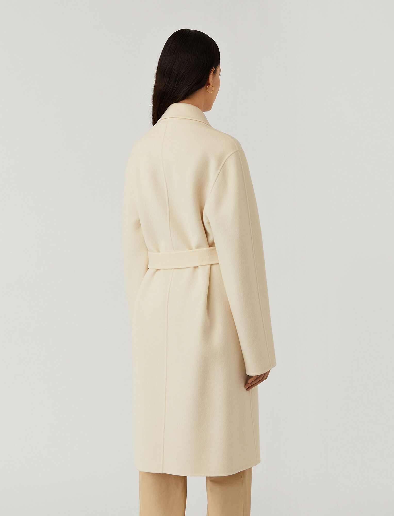 Joseph, Cenda Long Double Face Cashmere Coat, in Ivory
