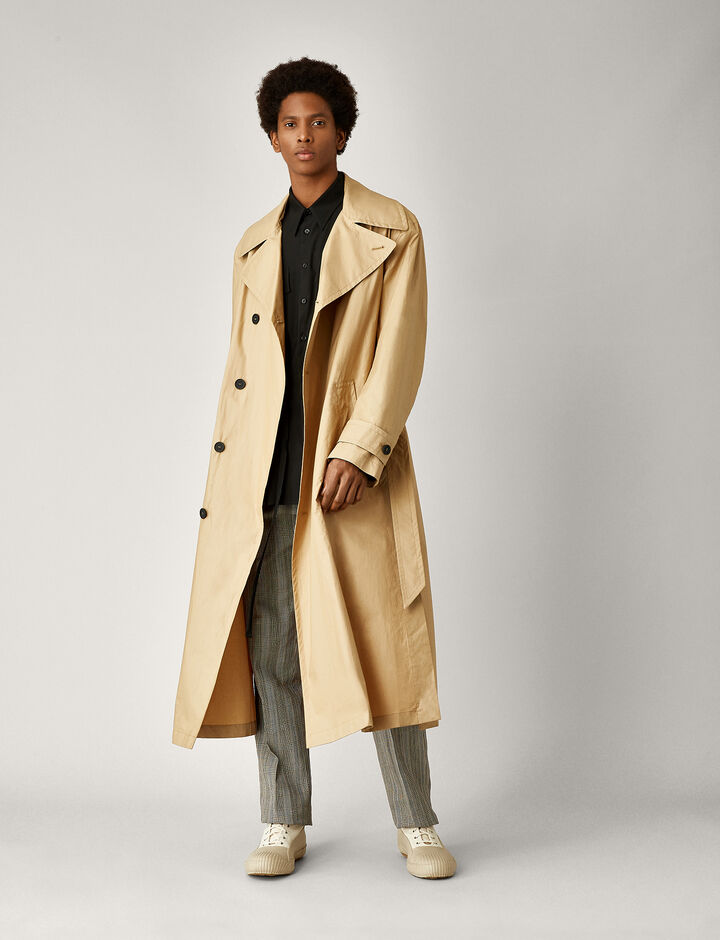 Joseph, Mawes Poplin Coated Coat, in CAMEL COMBO