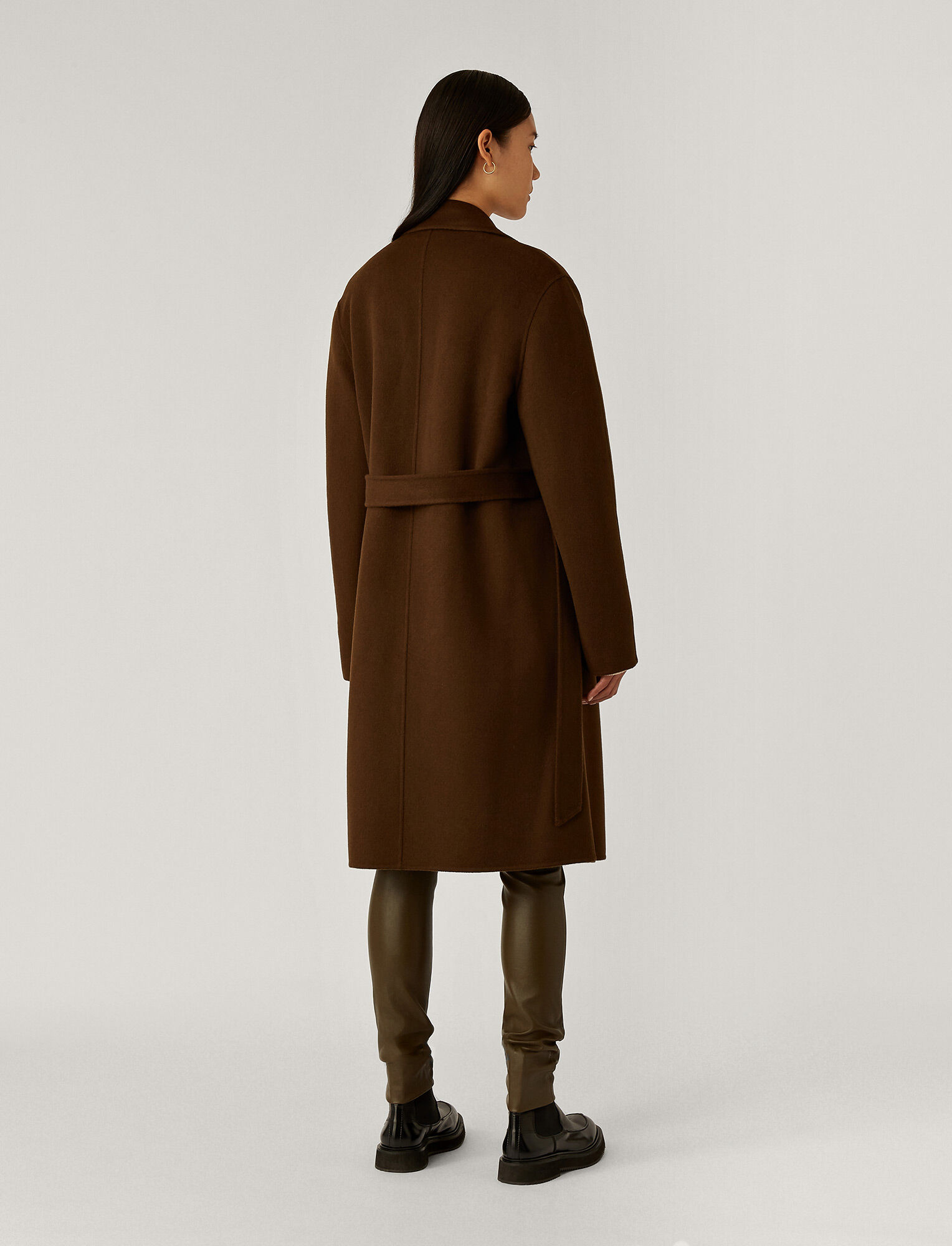 Joseph, Cenda Long Double Face Cashmere Coat, in Moss