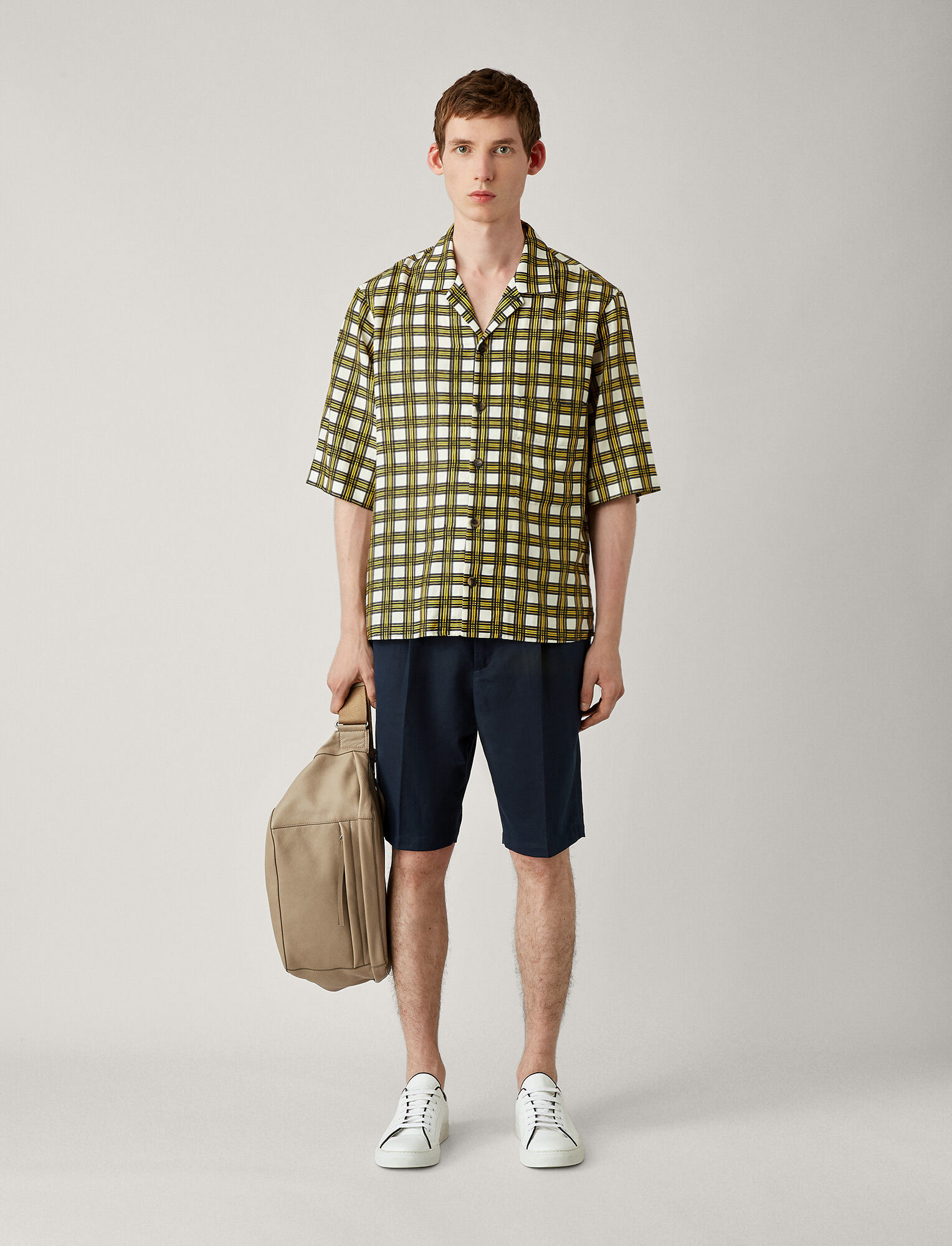 Joseph, Isaac Check Twill Shirt, in MUSTARD