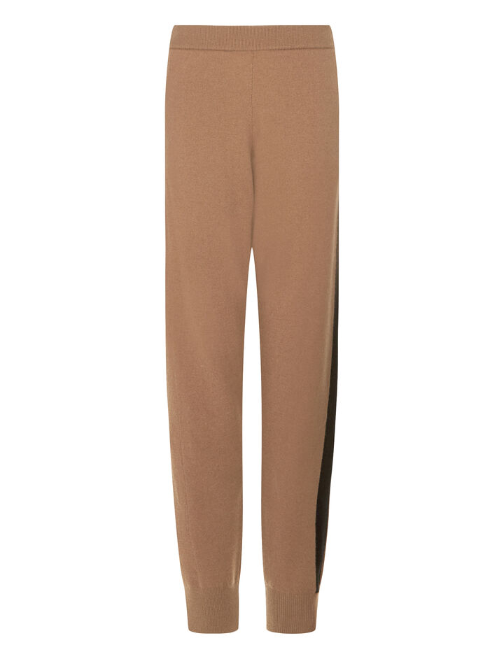 Joseph, Soft Wool Jog Pants, in CAMEL
