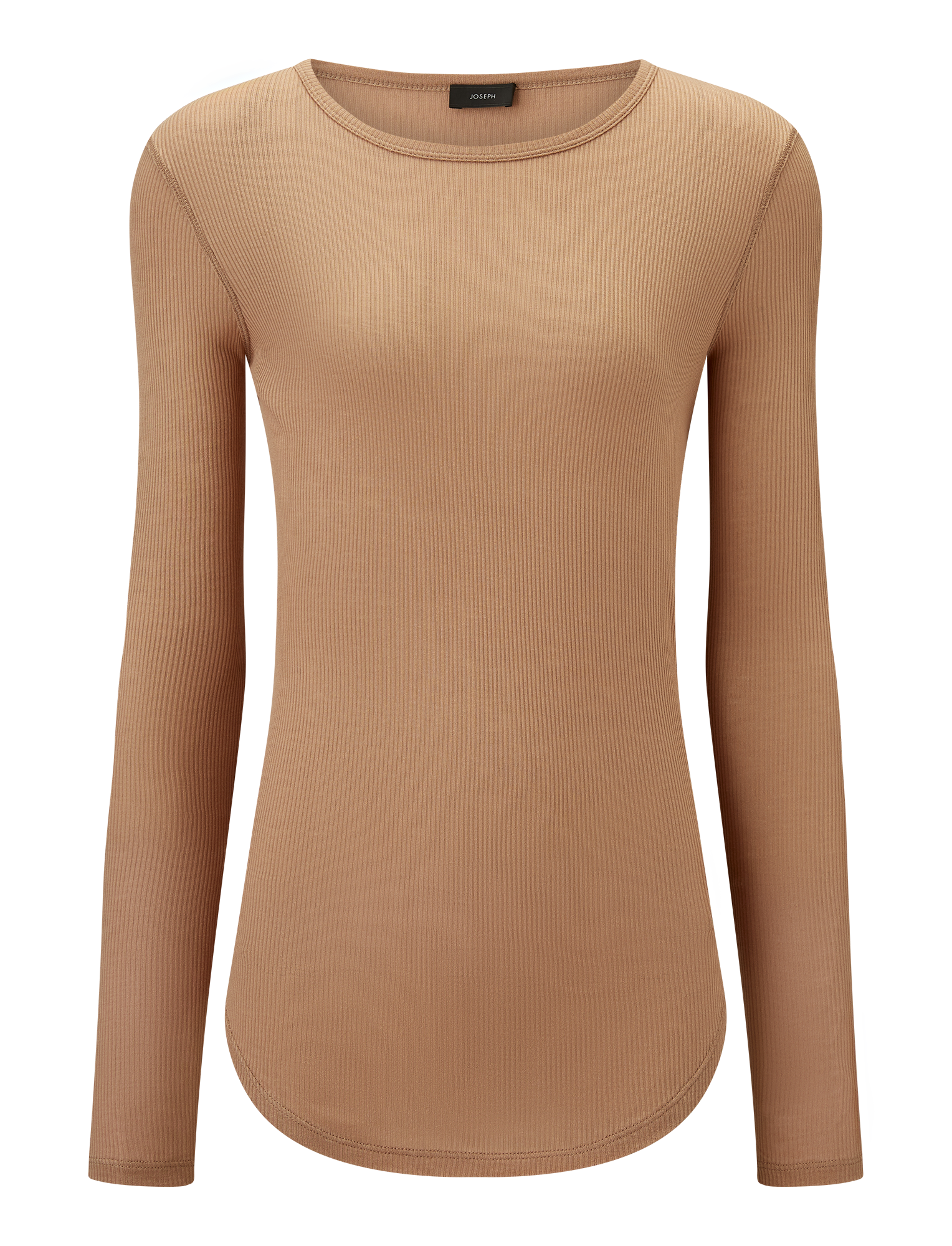 Joseph, Viscose Rib Jersey, in TAN