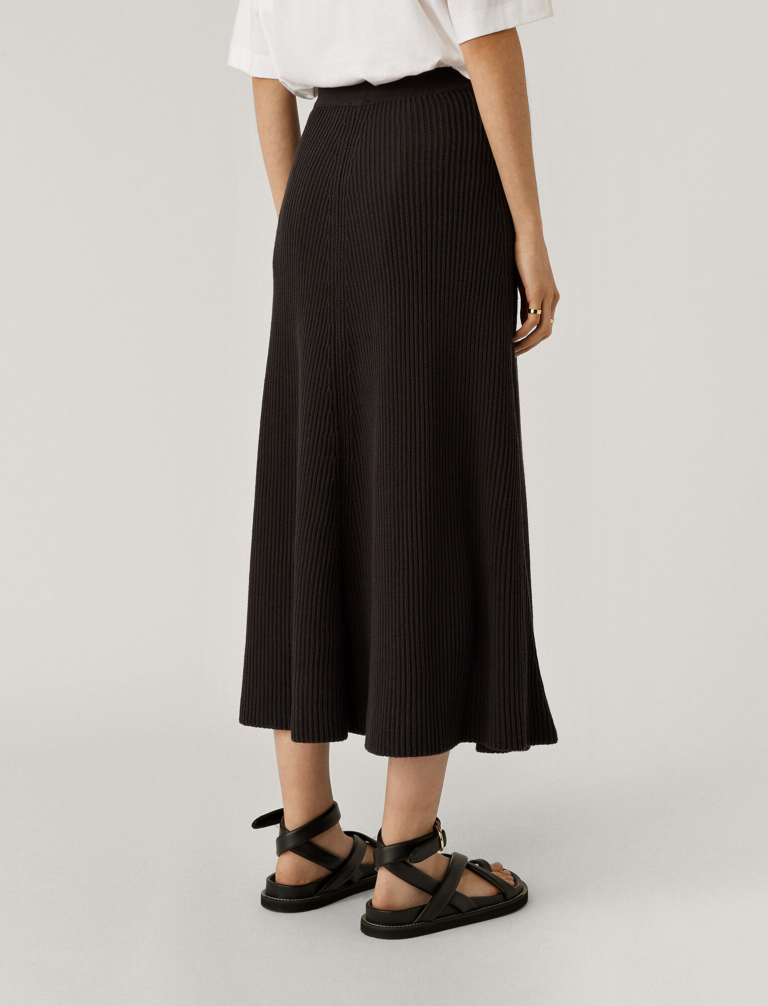 Joseph, Cote Anglaise Skirt, in CHARCOAL