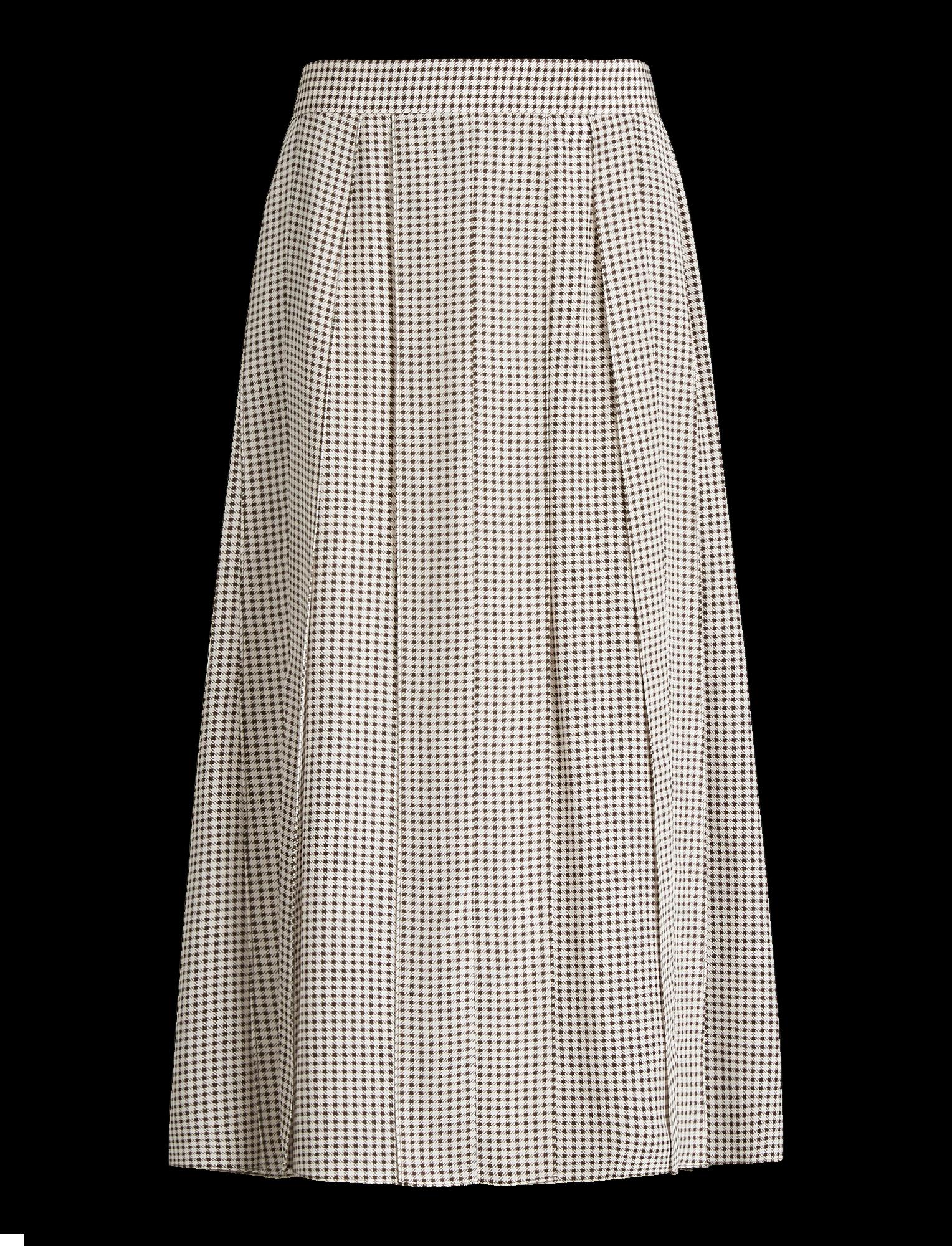 Joseph, Charlie Pied De Poule Skirt, in SHERBERT