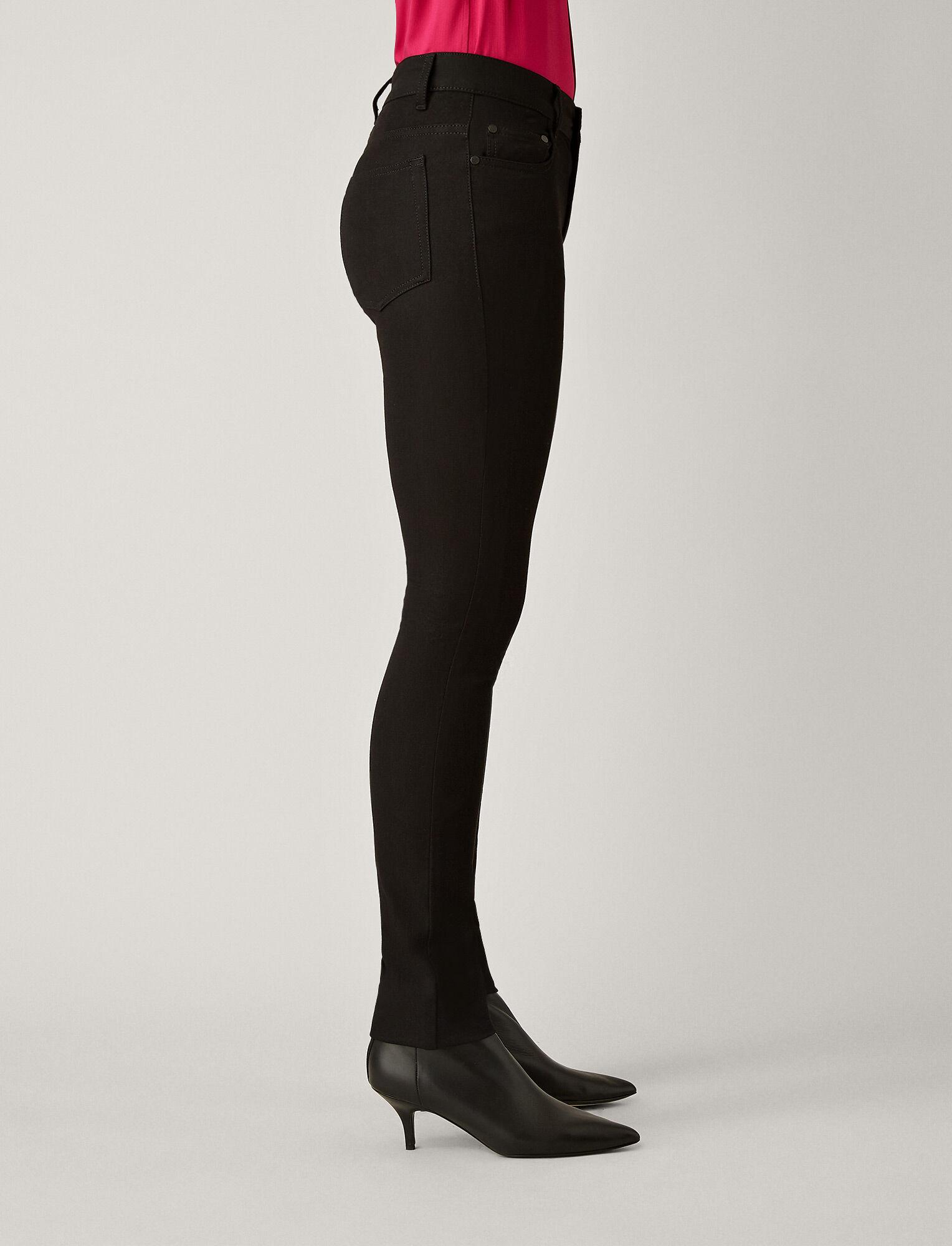 Joseph, Cloud Gabardine Stretch Trousers, in BLACK