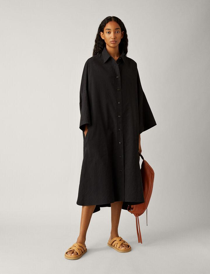 Joseph, Baker-Moroccan Stripe Linen, in BLACK