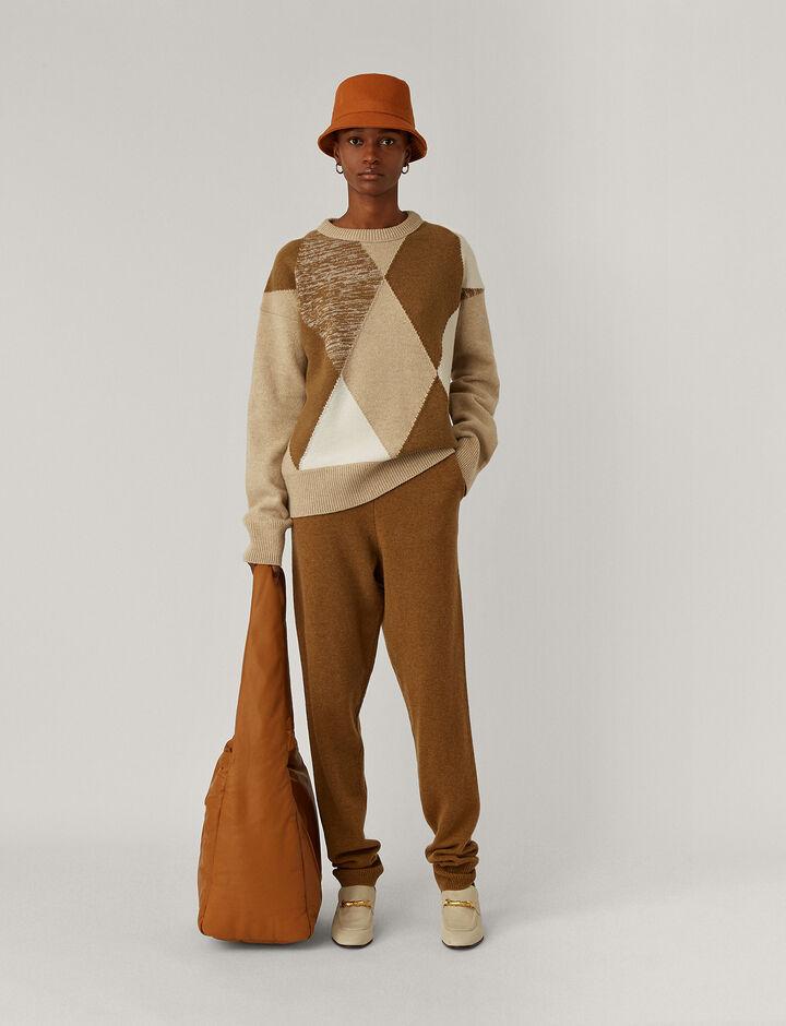 Joseph, Rd Nk Ls Knitwear, in Linen Combo