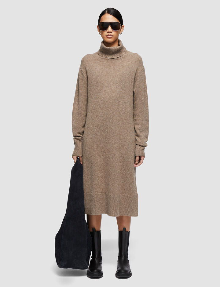 Joseph, Pure Cashmere Dress, in TAUPE