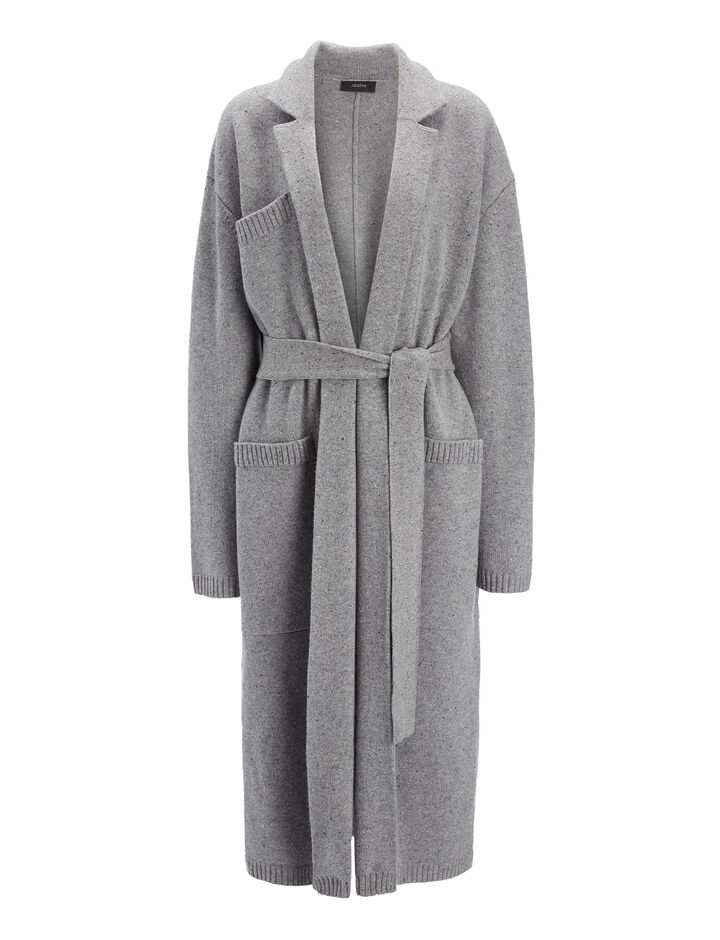 Joseph, Pure Wool Knit Coat, in GRAPHITE