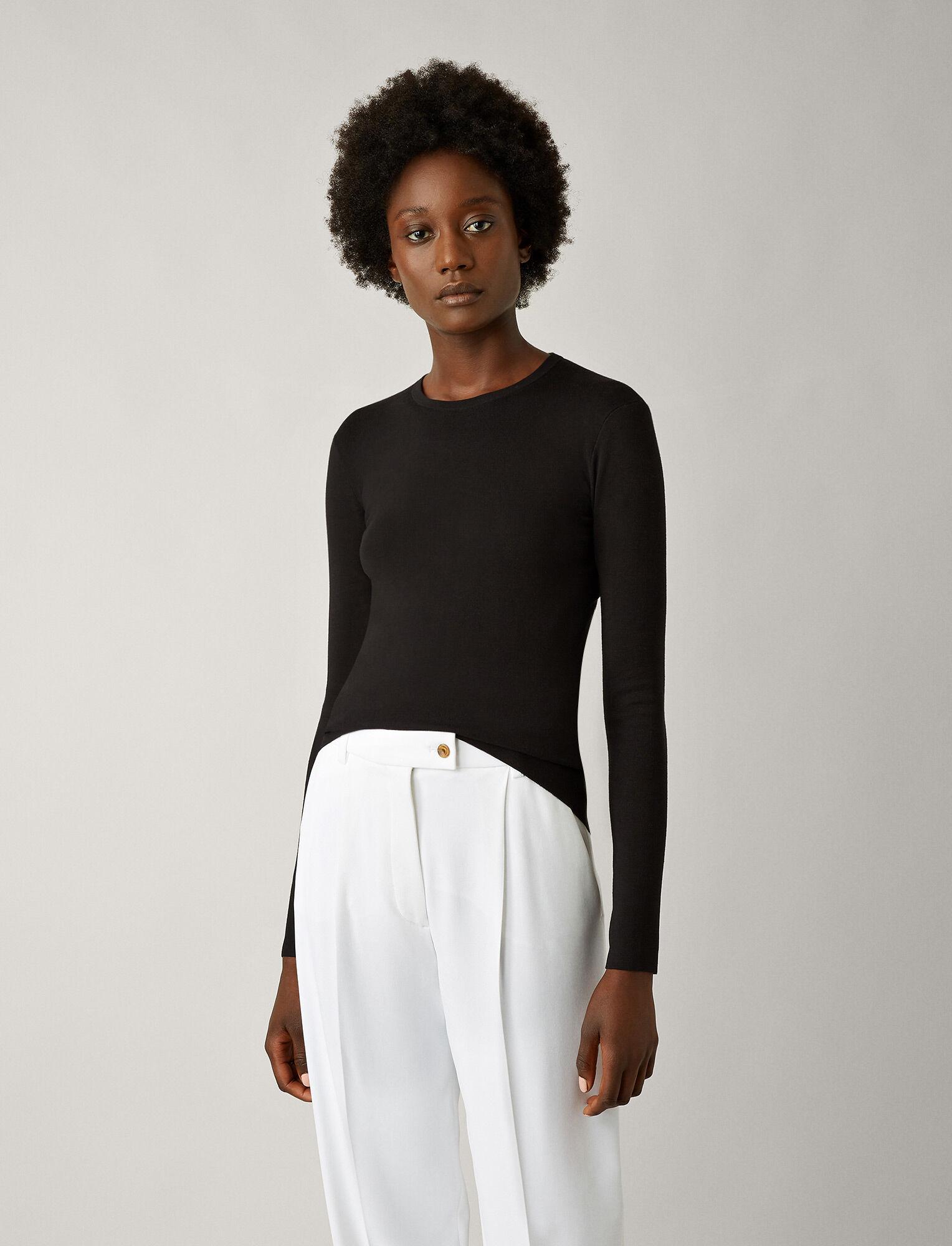 Joseph, Silk Stretch Knit, in BLACK
