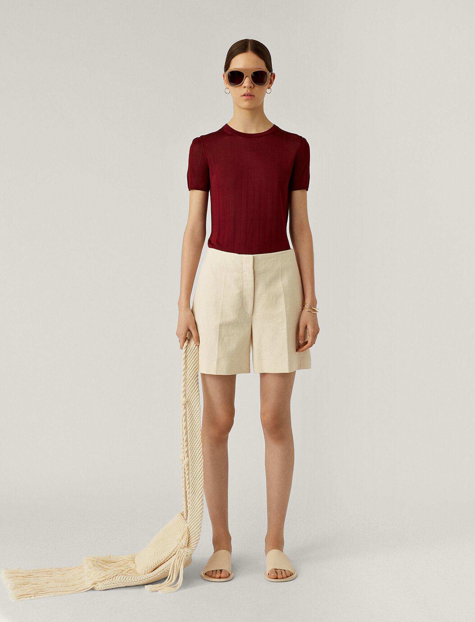 Joseph, Tallin Rustic Canvas Trousers, in CREAM