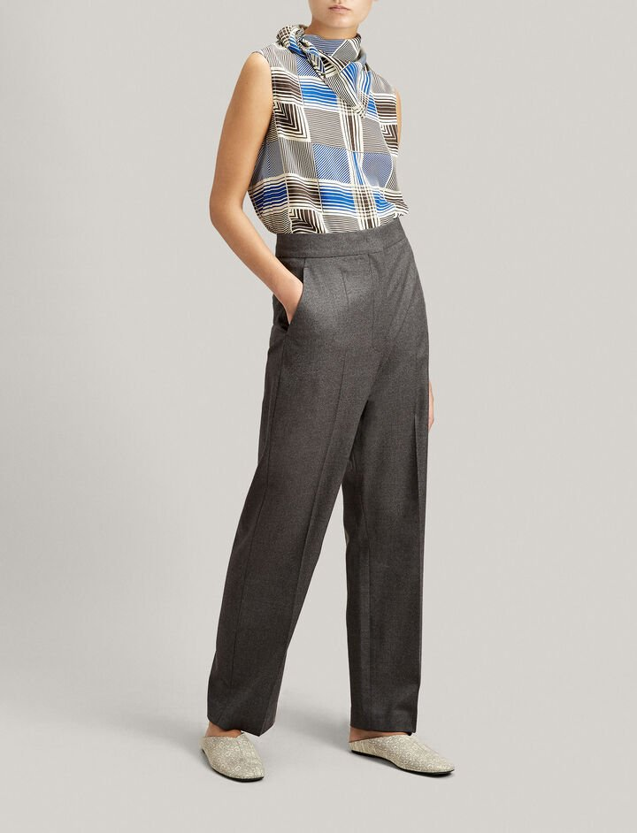 Joseph, Haim Flannel Stretch Trousers, in CHARCOAL