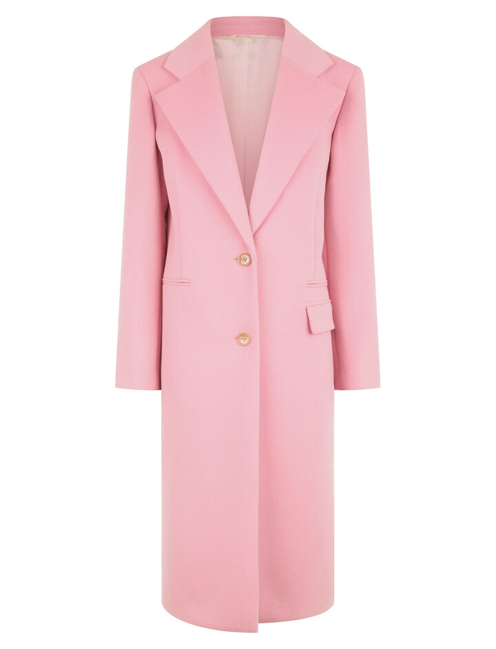 Joseph, New Magnus Double Wool Gloss Coat, in CARNATION