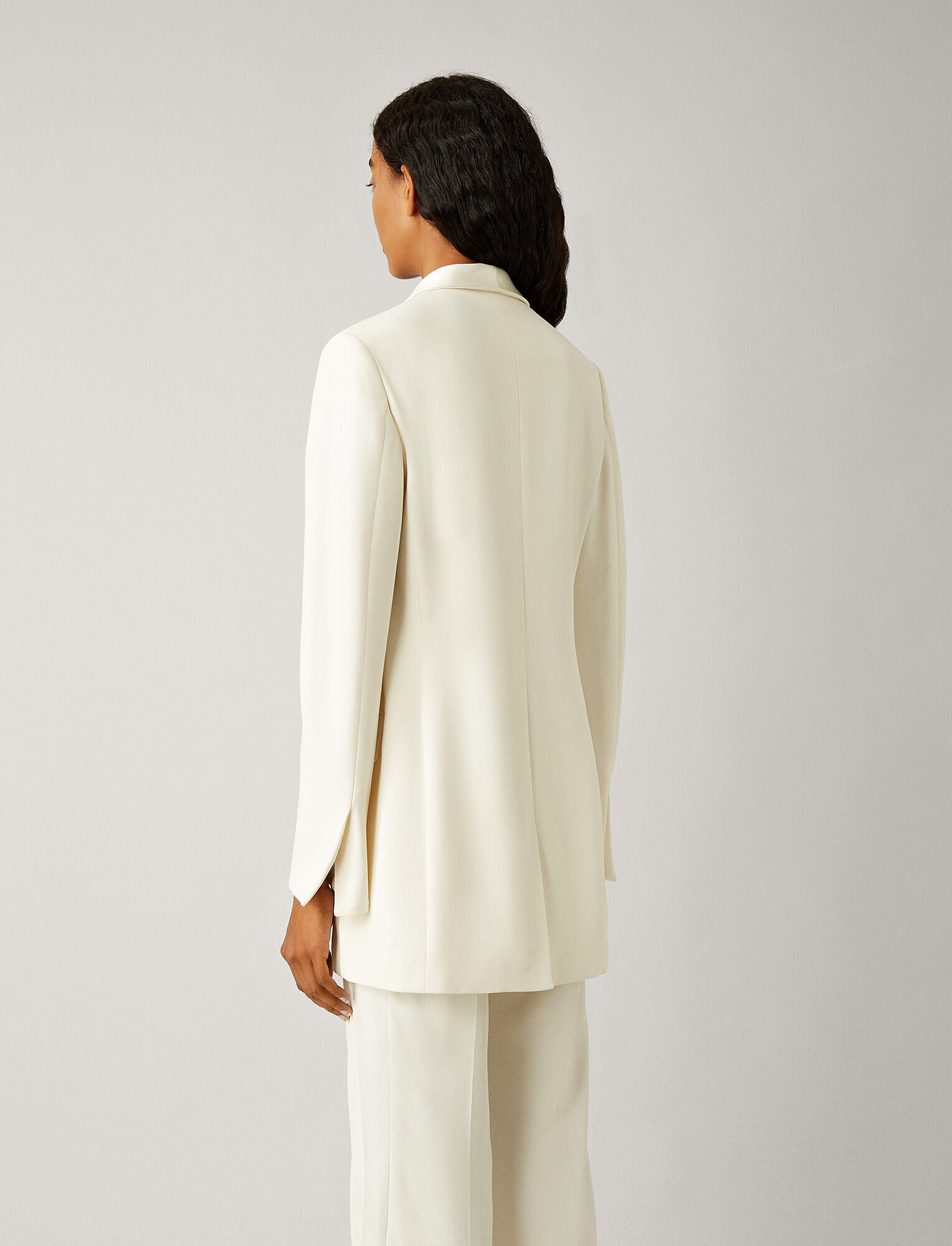 Joseph, Clapton Stretch Cady Jacket, in IVORY