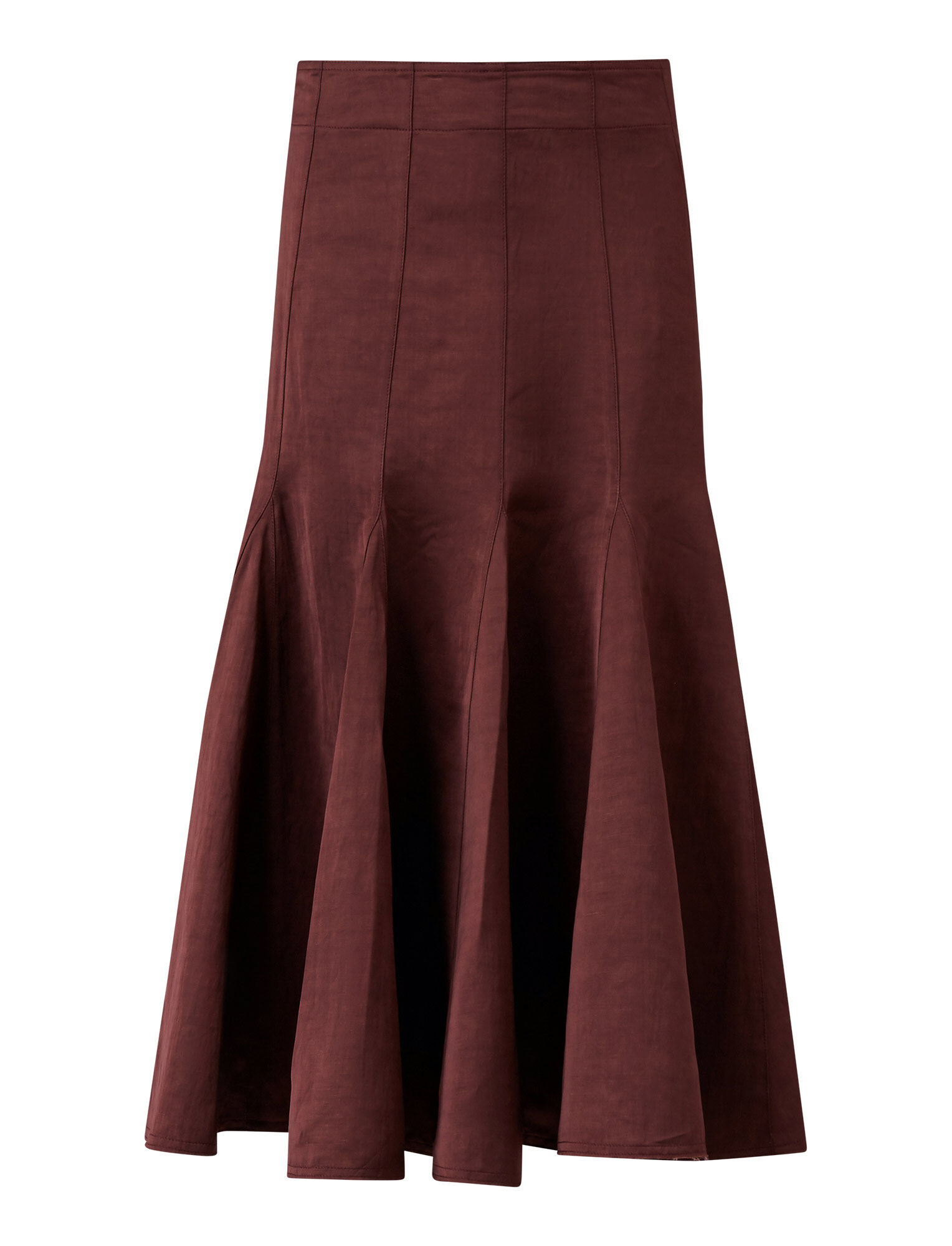 Joseph, Sula Chintz Skirt, in MERLOT