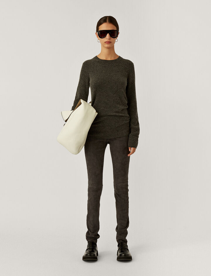 Joseph, Legging-Suede Stretch, in ANTHRACITE