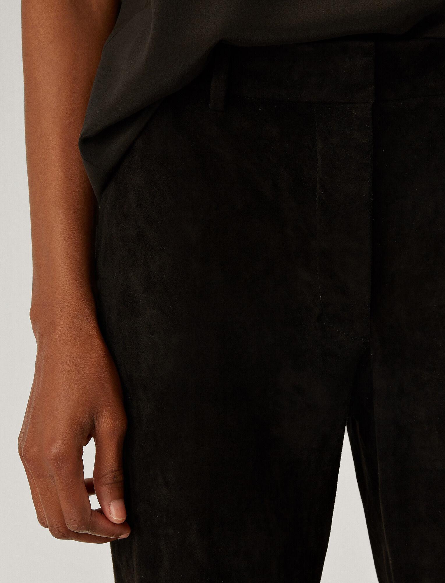 Joseph, Coleman Suede Stretch Trousers, in BLACK