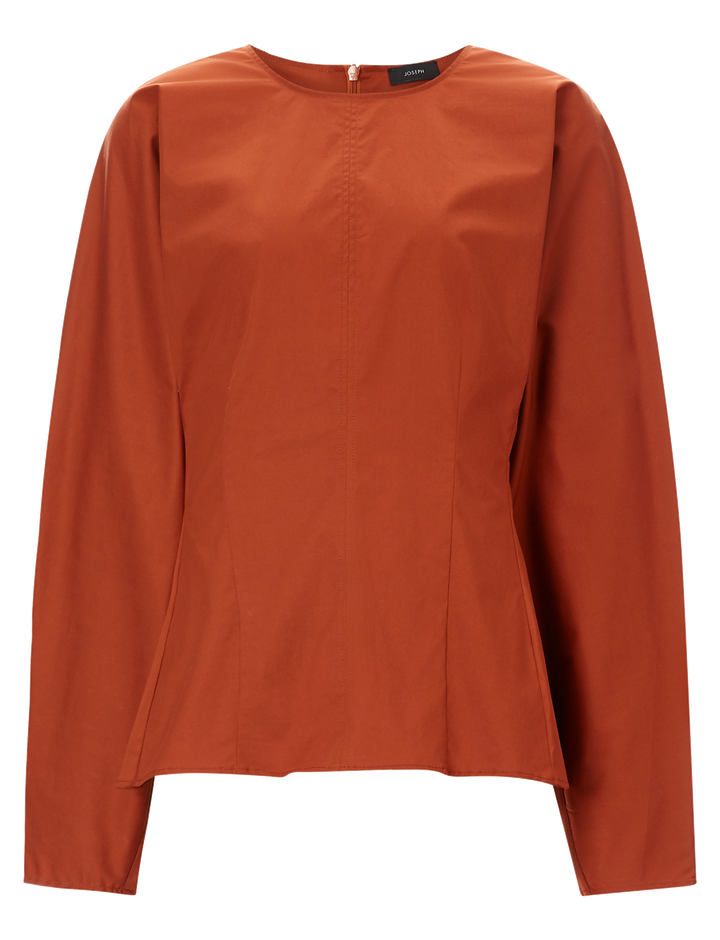 Joseph, Cass Cotton Stretch Blouse, in TAN