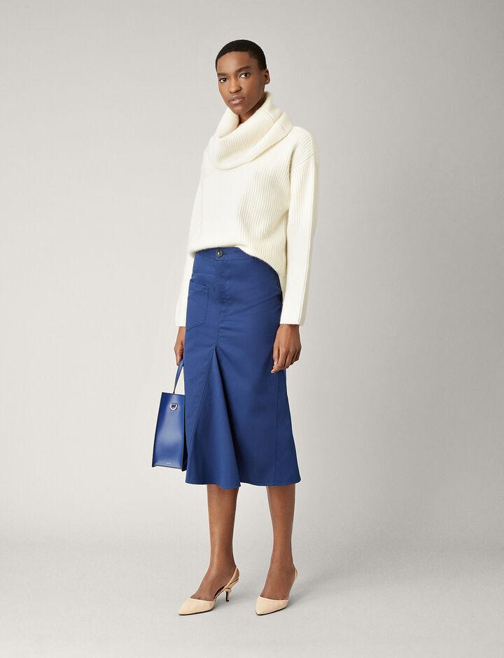 Joseph, Beth Everyday Chino Skirt, in INDIGO