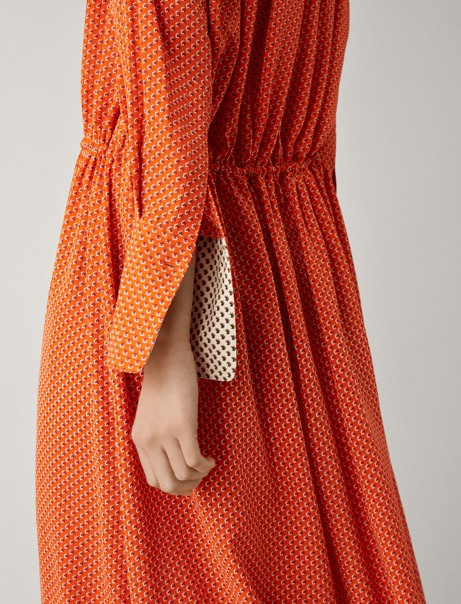 Joseph, Evie Micro Floral Dress, in CARROT