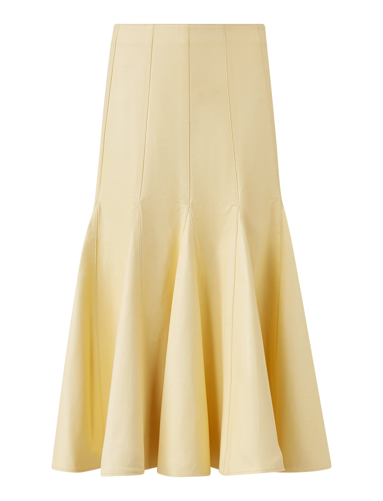 Joseph, Sid Nappa Leather Skirt, in BANANA