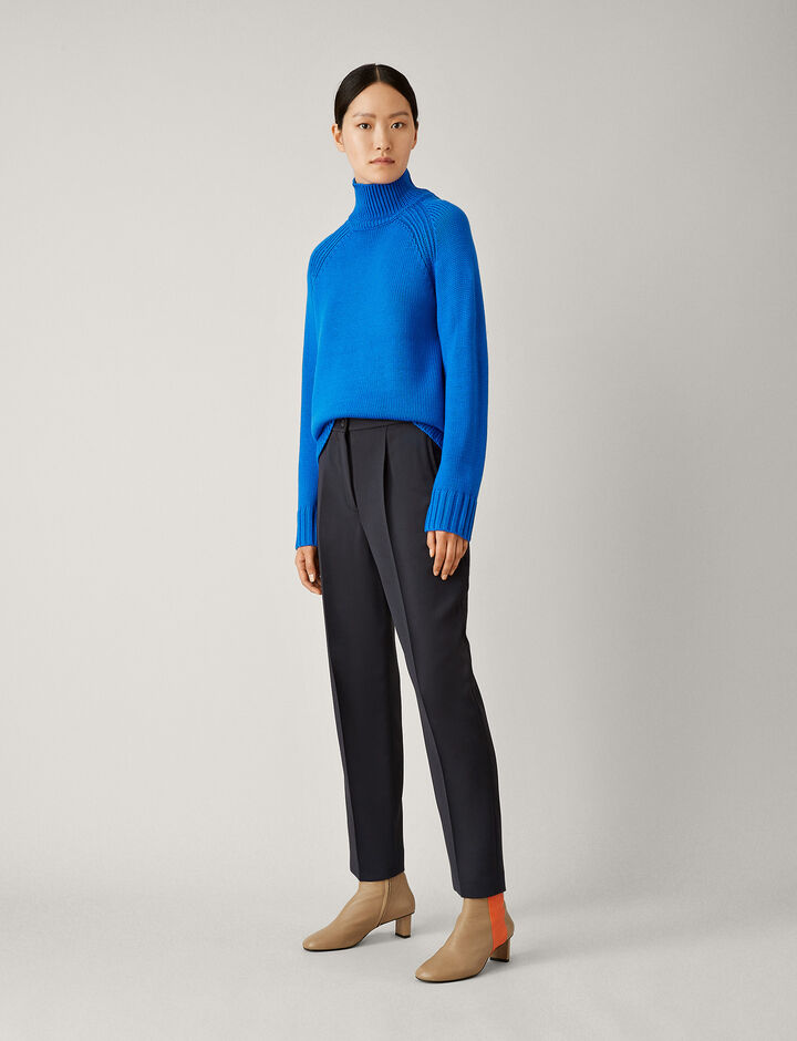 Joseph, Roge Faille Stretch Trousers, in NAVY