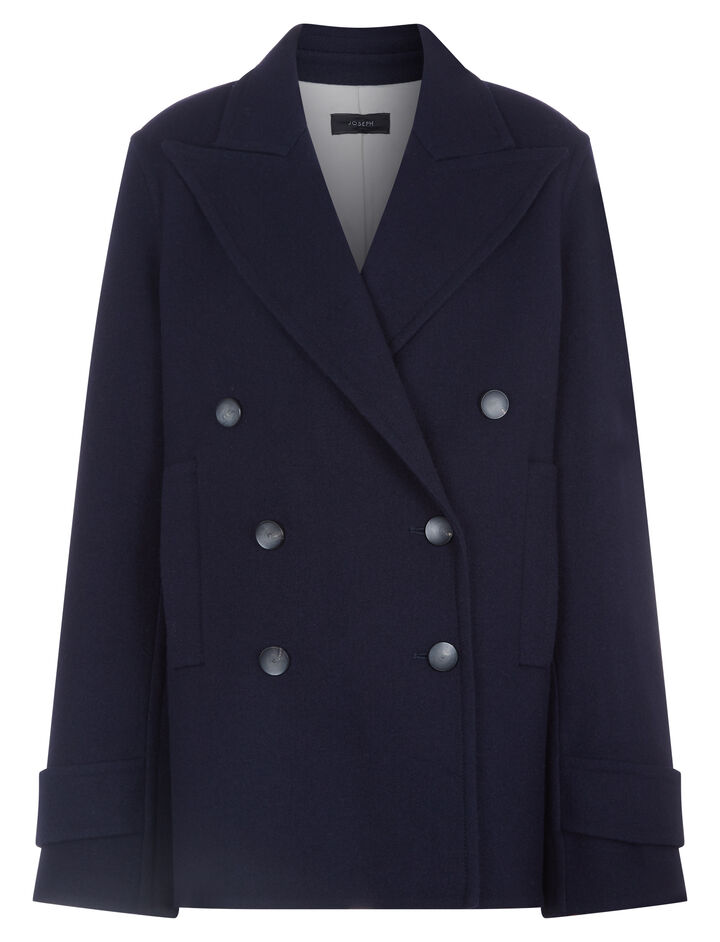 Joseph, Optima Peacoat Coat, in NAVY